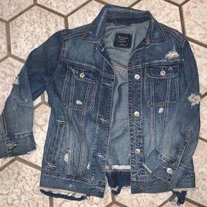 Abercrombie & Fitch Distressed Denim Jacket